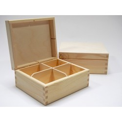 Drewniane pudełko na herbatę - baza do decoupage PH304