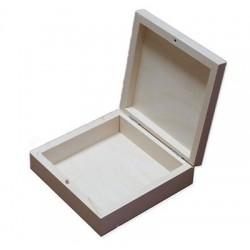 Drewniane pudełko kwadratowe - baza do decoupage