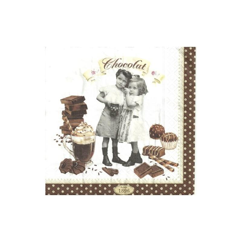 Serwetka do decoupage - Chocolat