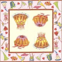 Serwetka do decoupage - Tort urodzinowy