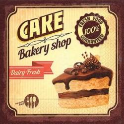 Serwetka do decoupage - Ciasto czekoladowe