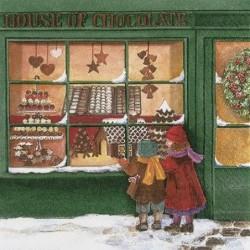 Serwetka do decoupage - Dom czekolady