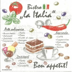 Serwetka do decoupage - Bistro Italia