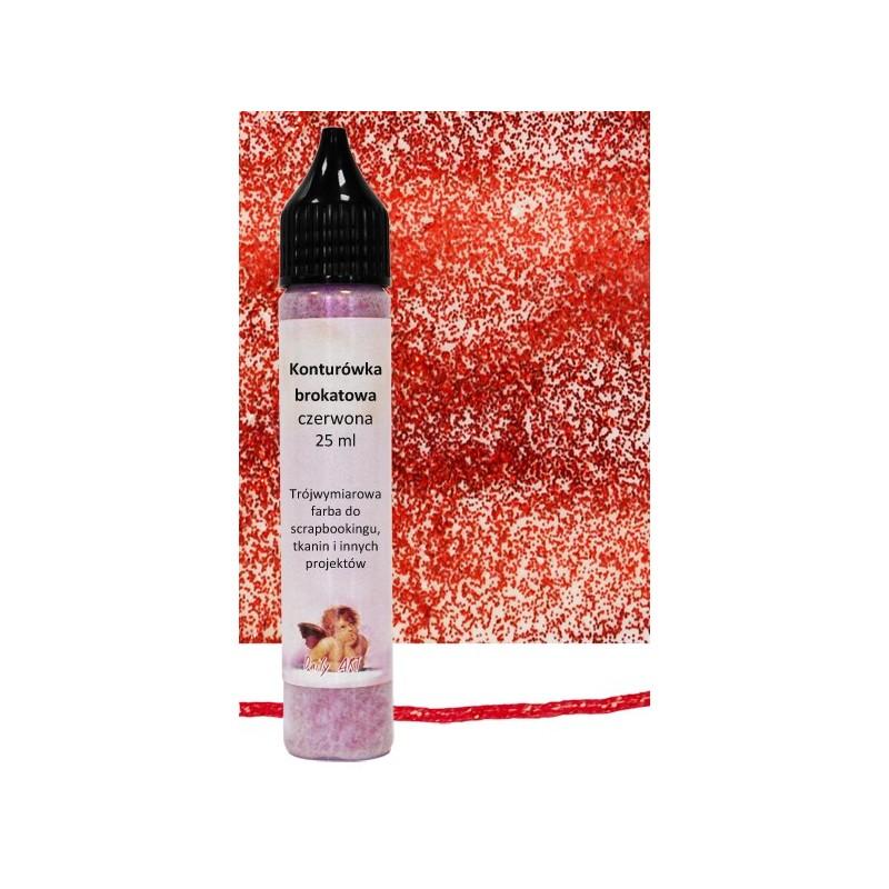 Konturówka brokatowa Daily Art - czerwona