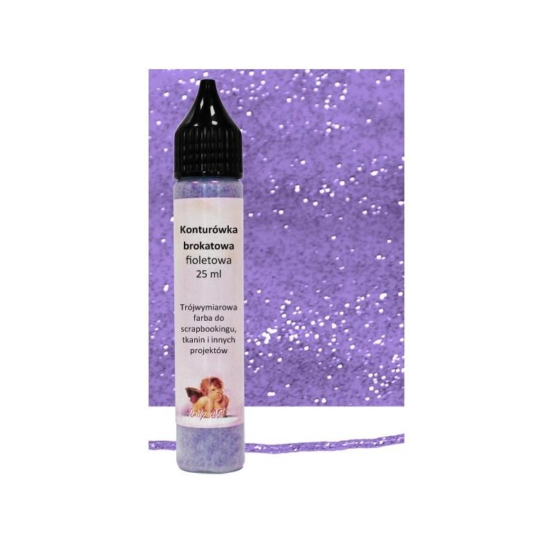 Konturówka brokatowa Daily Art - fioletowa