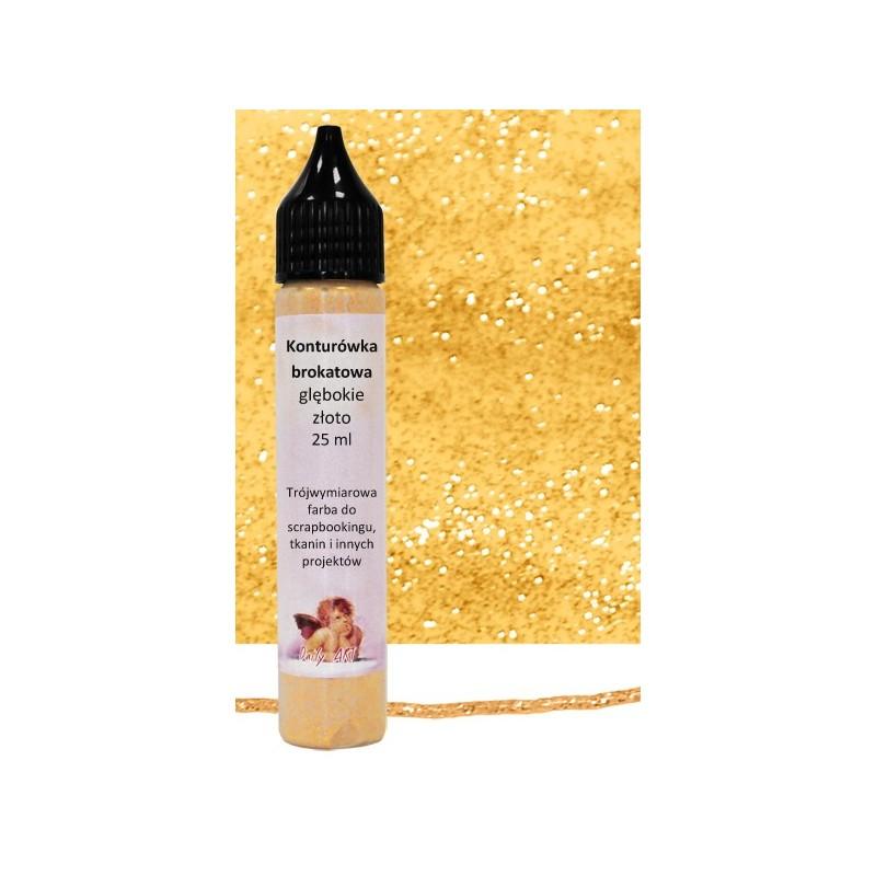 Konturówka brokatowa Daily Art - rich gold - głębokie złoto