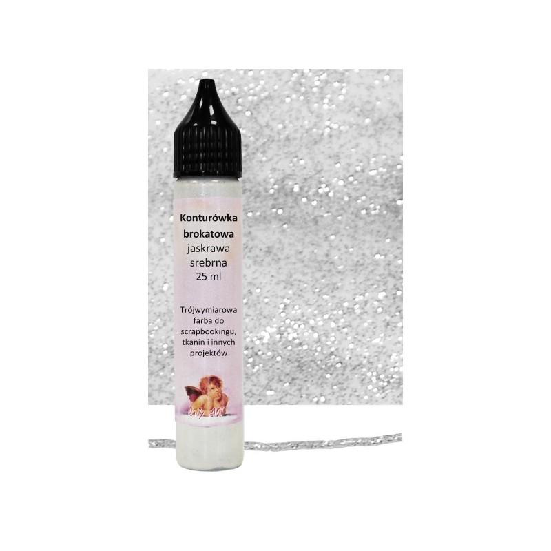 Konturówka brokatowa Daily Art - bright silver - jaskrawa srebrna