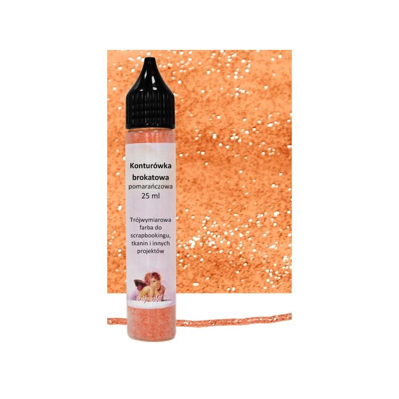 Konturówka brokatowa Daily Art - pomarańczowa