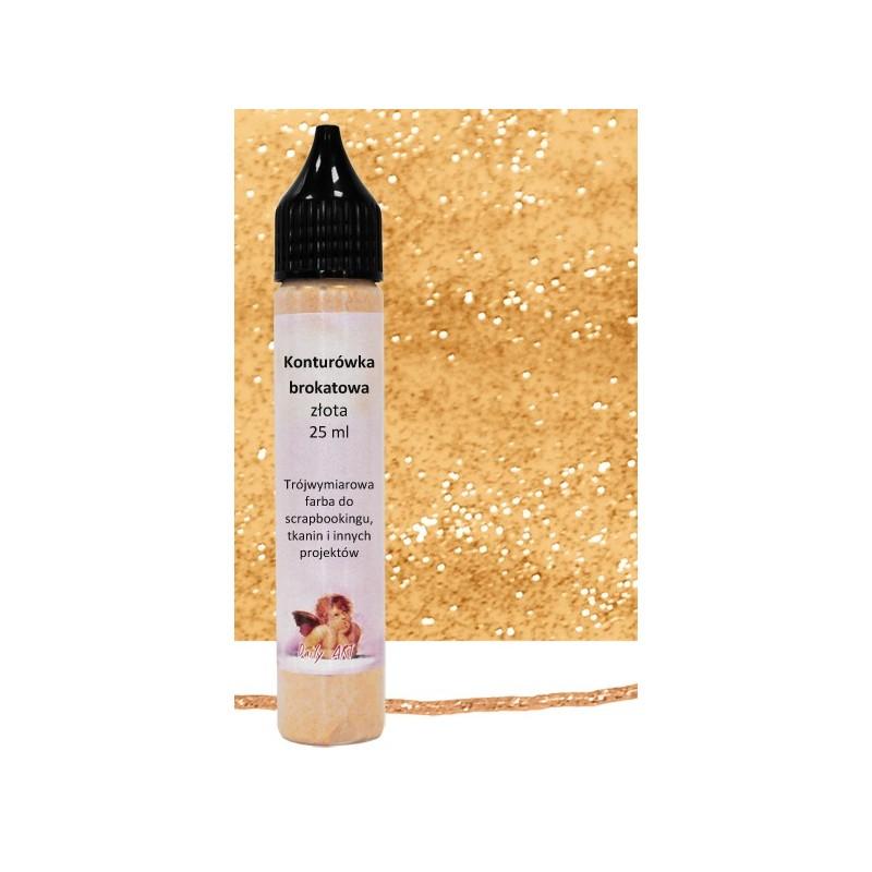Konturówka brokatowa Daily Art - gold - złota