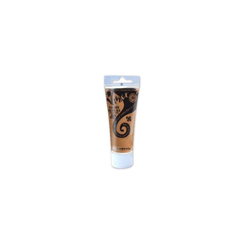 Metaliczna farba akrylowa Stamperia Vivace, białe złoto KAB85