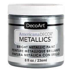 Farba metaliczna Americana DECOR Metallics, Silver [ADMTL13], 236 ml