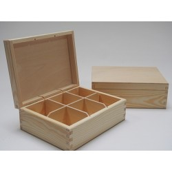 Drewniane pudełko na herbatę PH306