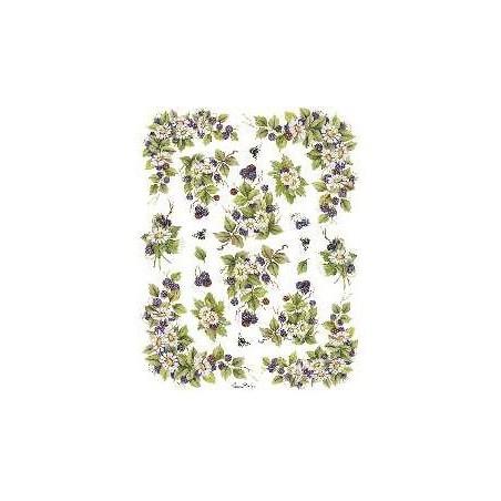 Papier do decoupage Decomania, Kwiaty leśne małe [serie 6/054b]