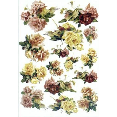 Papier klasyczny Decomania, Róże [L1210]