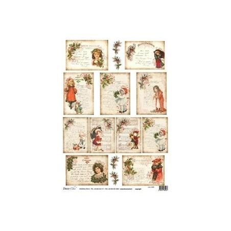 Papier ryżowy Decomania 5290, Pocztówki BN