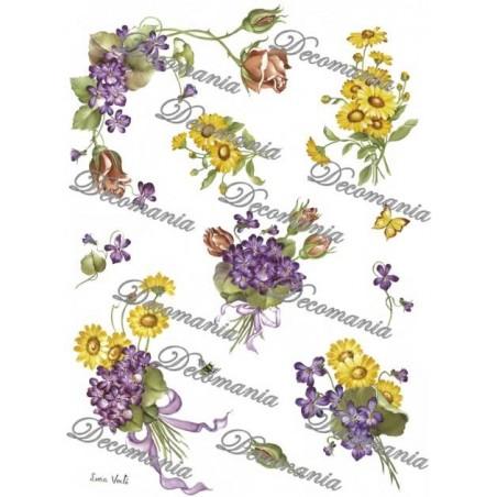 Papier ryżowy Decomania 5004, Kwiaty polne