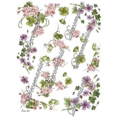 Papier do decoupage Decomania, Kwiatki mix [serie 4/035b]