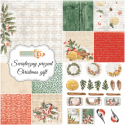 Zestaw papierów do scrapbookingu Świąteczny Prezent - Studio75