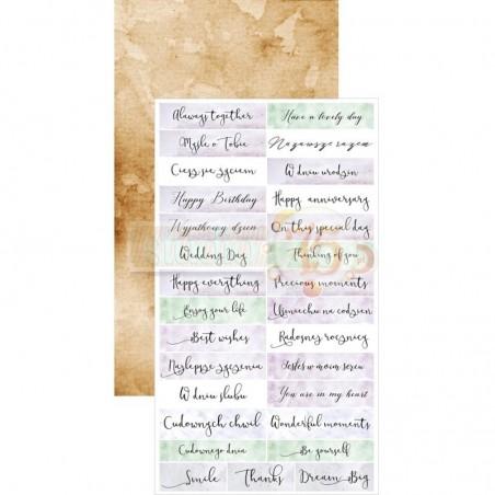 Papier do scrapbookingu 14x16.8, Violet Love 08 [S75]