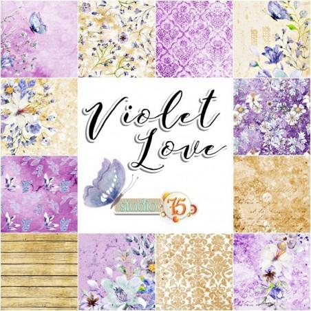 Zestaw papierów do scrapbookingu Violet Love - Studio75
