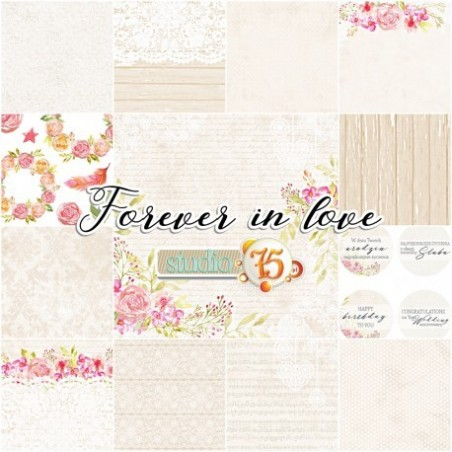 Zestaw papierów do scrapbookingu Forever in love - Studio75