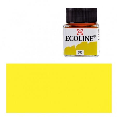 Farba akwarelowa w płynie, Ecoline 205 Lemon Yellow, 30 ml
