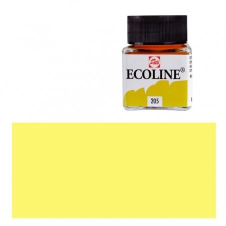 Farba akwarelowa w płynie, Ecoline 201 Light Yellow, 30 ml