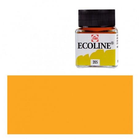 Farba akwarelowa w płynie, Ecoline 202 Deep Yellow, 30 ml