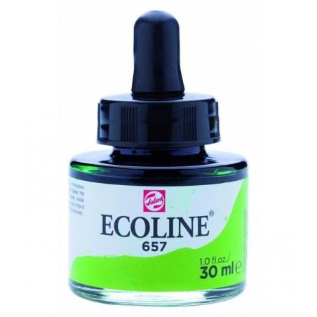 Farba akwarelowa w płynie, Ecoline 657 Bronze Green, 30 ml