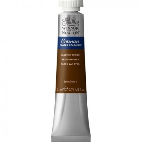Farba akwarelowa w tubie, Cotman Water Colours, Vandyke Brown, 8 ml