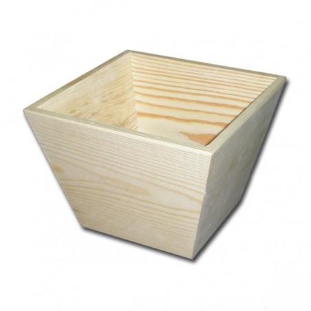 Doniczka drewniana kwadratowa duża [MAK]