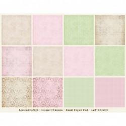 Zestaw papierów do scrapbookingu 12x12, Dom Róż Reedycja Basic - papiery bazowe [Lemoncraft]