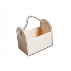 Pojemnik drewniany ze sznurkiem - baza do decoupage PO246