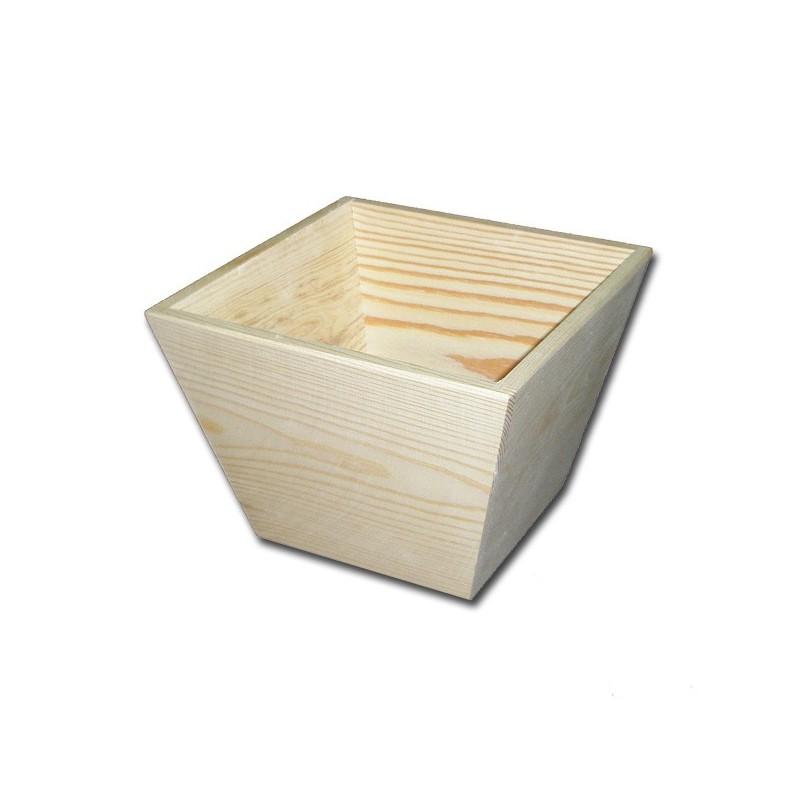 Doniczka drewniana do ozdabiania