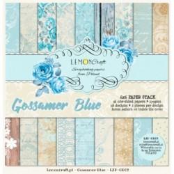 BLoczek papierów do scrapbookingu 15x15 Gossamer Blue - Lemoncraft