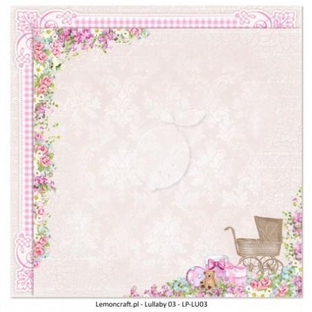 Papier do scrapbookingu 12x12, Lullaby 03 [Lemoncraft]