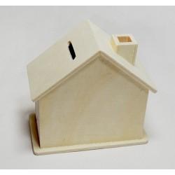 Skarbonka w kształcie domku.