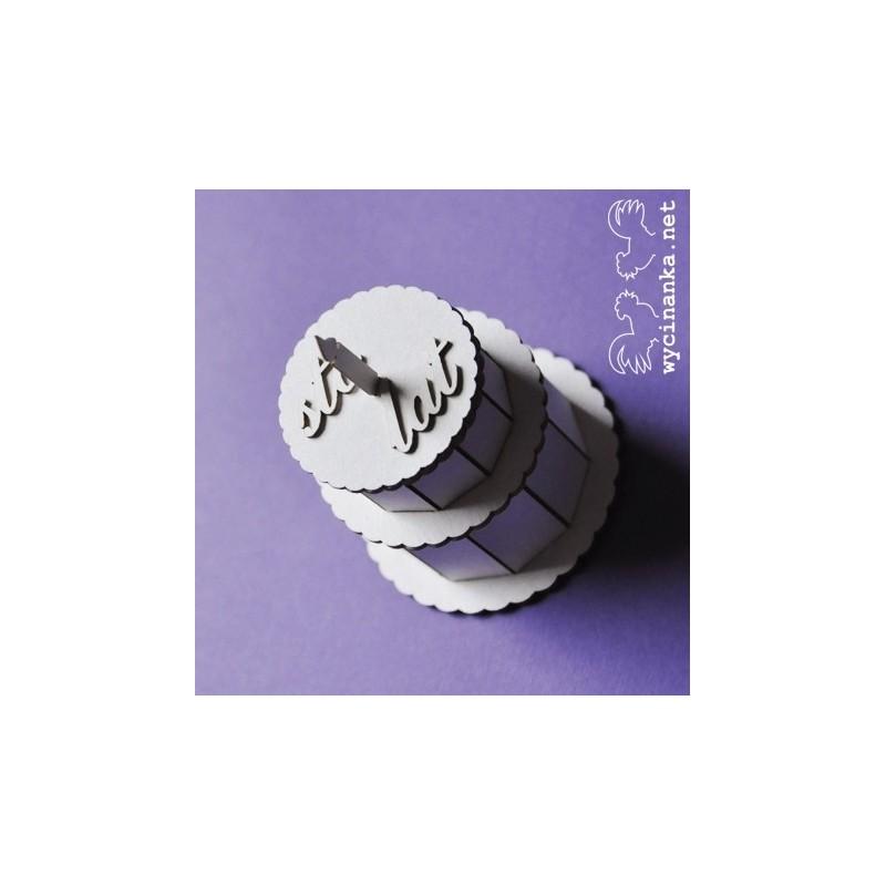 Elementy tekturowe Wycinanka, Tort urodzinowy 3D