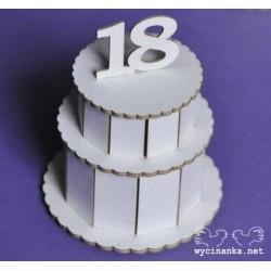 Tekturki do scrapowania Wycinanka, Tort 3D na 18 urodziny