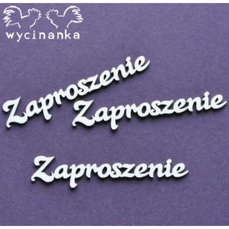 Tekturki do scrapbookingu, Napisy Zaproszenie - Wycinanka