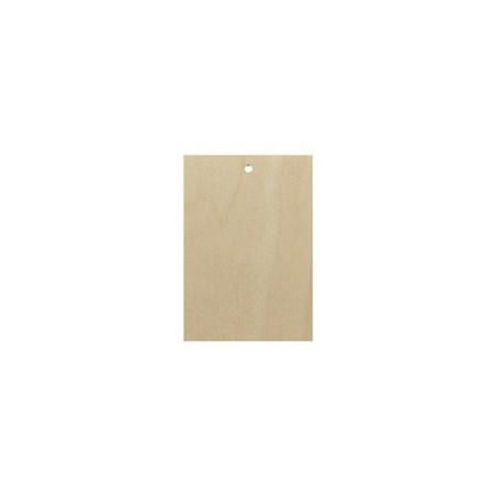 Drewniana biżuteria - prostokąt 2x3 cm