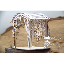 Elementy tekturowe Scrapiniec 5157, Boho Love- Altanka 3D 01