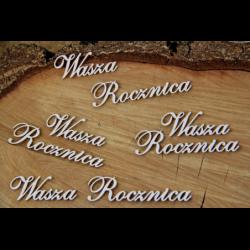 Ozdobny napis z tekturki Wasza Rocznica - Scrapiniec