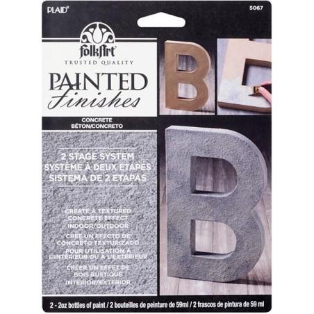 Zestaw farb FolkArt Faux Paint Kit, Concrete - efekt betonu