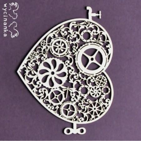 Zestaw elementów tekturowych, Around the steampunk - serce wz. 2[Wycinanka]