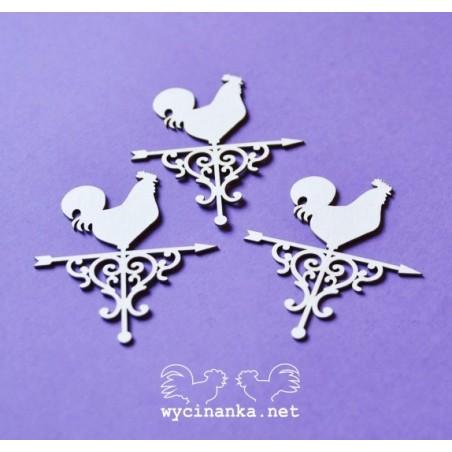 Wycinanka - dekory z kogucikami, 3 szt.