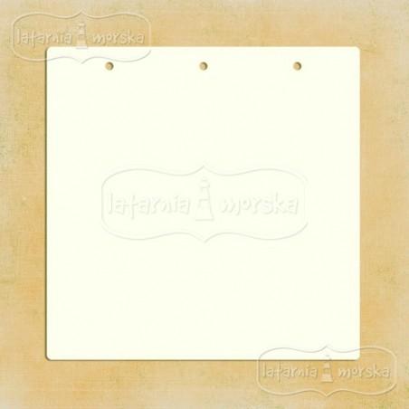 Baza albumowa, kwadratowa z dziurkami 20x20 cm, 6 szt. [Latarnia]