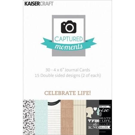 Karty do journalingu 6x4, Captured Moments, Celebrate Life! [CM311]