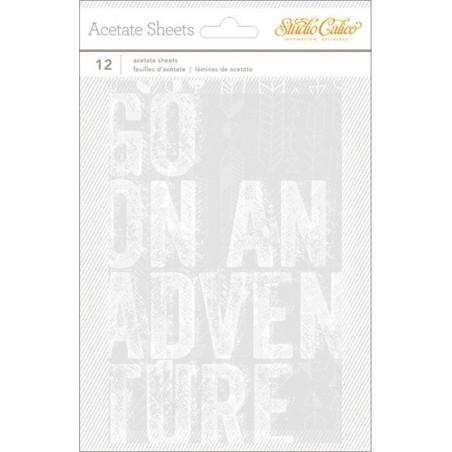 Zesta kart acetatowych, Wanderlust Transparency Acetate Sheets 4x6