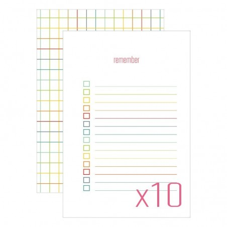 Karty do journalingu 4x6, Idea Book - Remember, 10 szt. [FP]